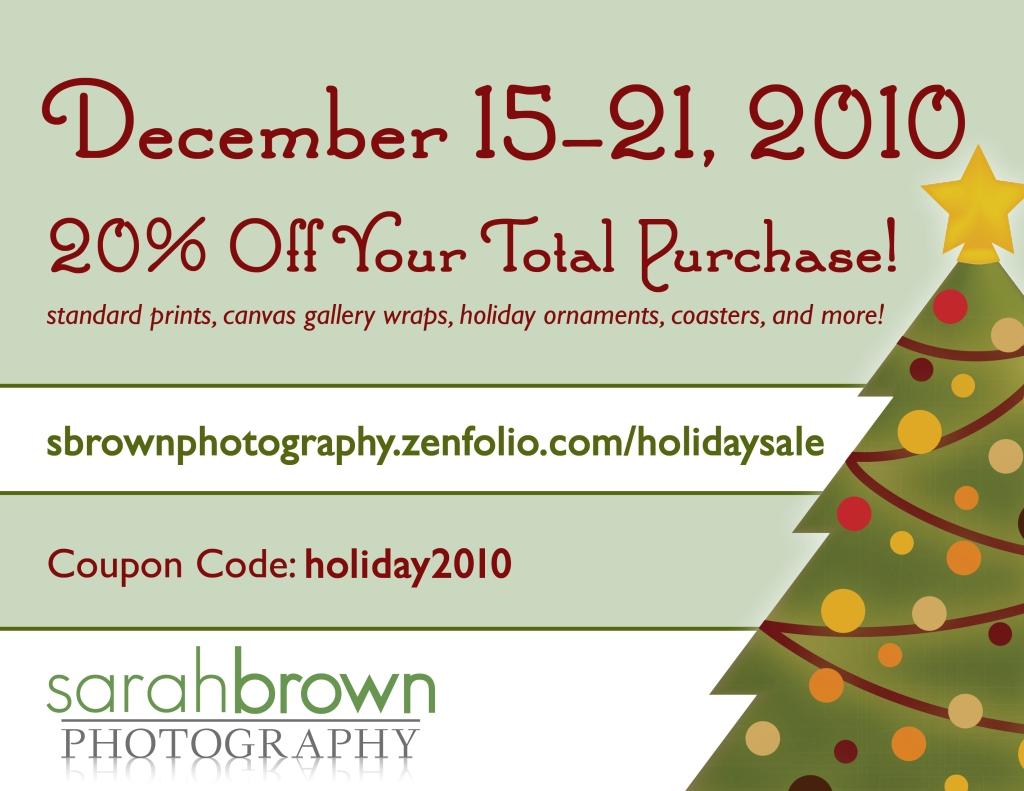 20% off December 15-21